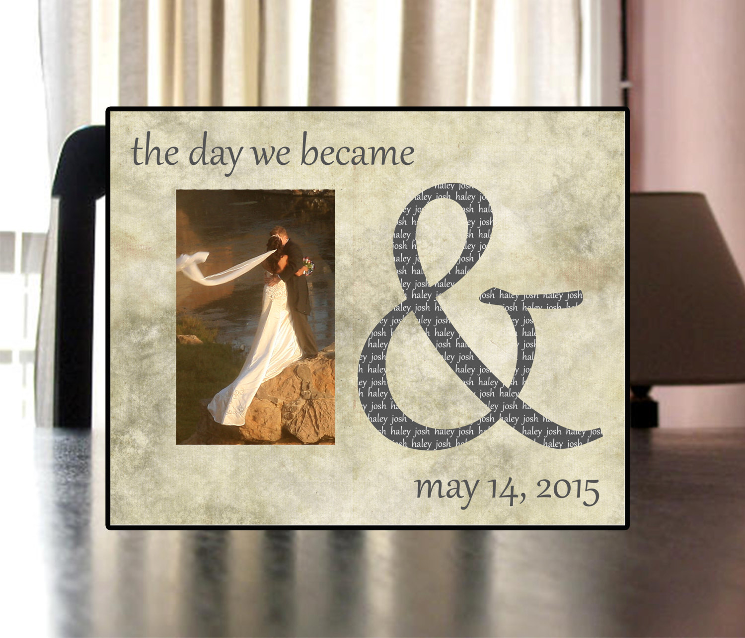d570bd058e67 Beautiful 8 x 10 Personalized Frame for Wedding Gift – Your Custom Stuff
