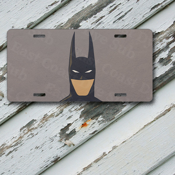 "License Plate Arkham Batman Minimalist Design on 6"" x 12""  Aluminum License Plate"