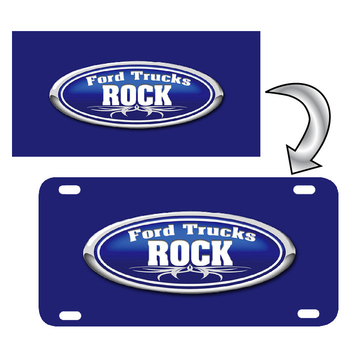 "License Plate Custom Personalized Photo or Company Logo on 6"" x 12""  Aluminum License Plate"