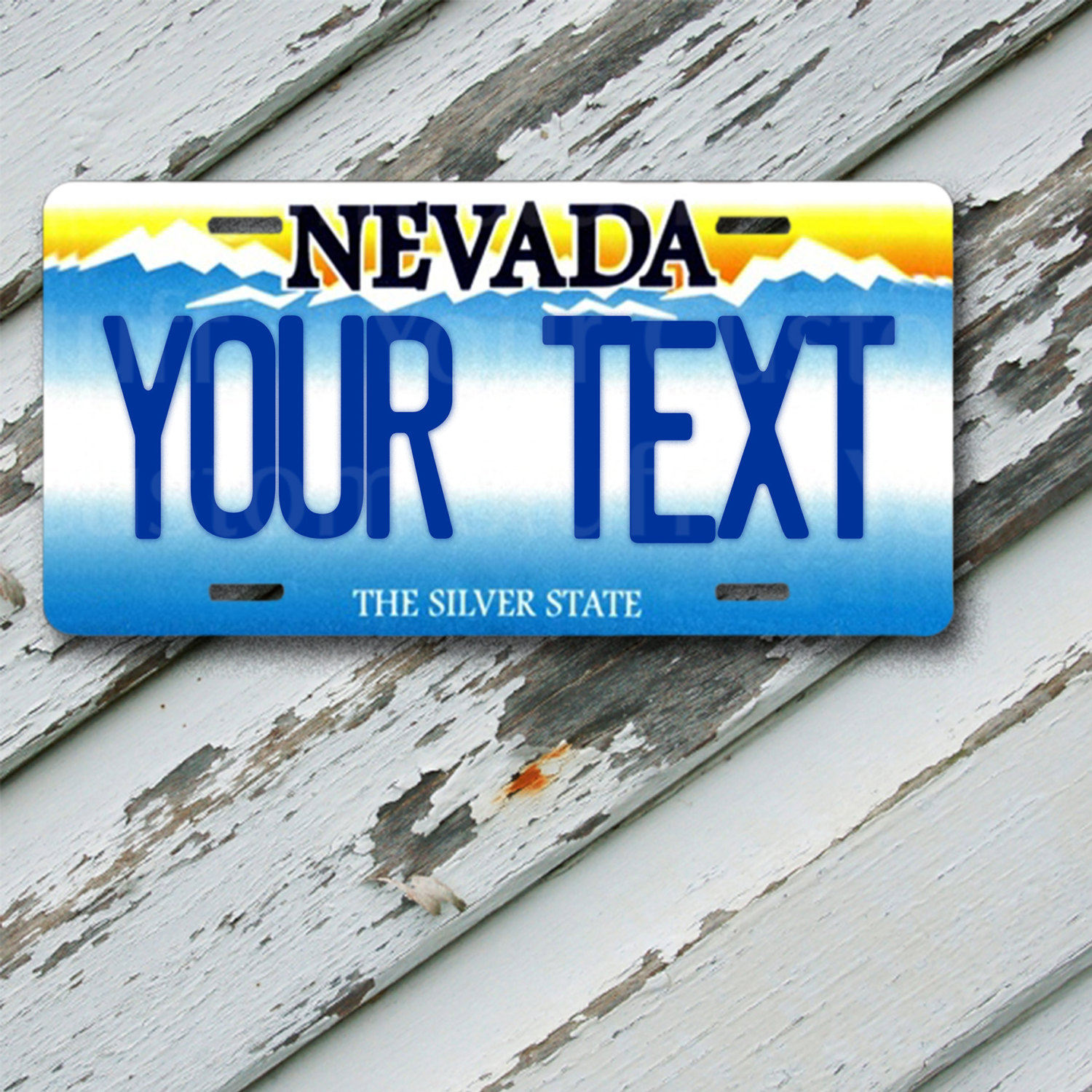 "License Plate Nevada Customizable 6"" x 12""  Aluminum Vanity License Plate"