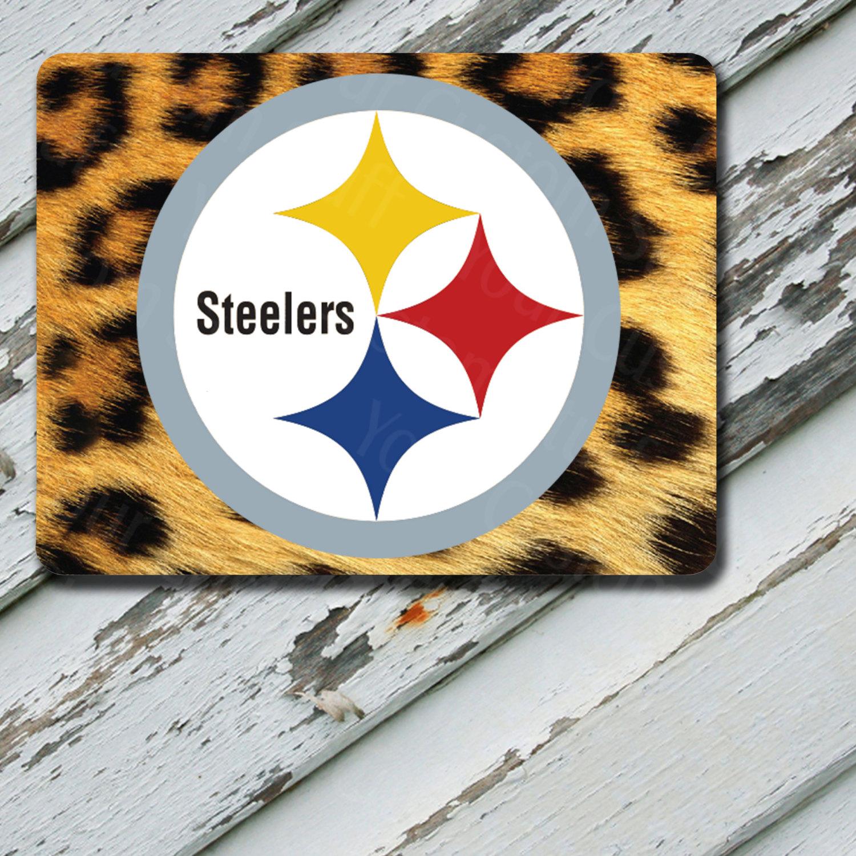 Mousepad Yellow Cheetah Pittsburgh Steelers Design on Mousepad