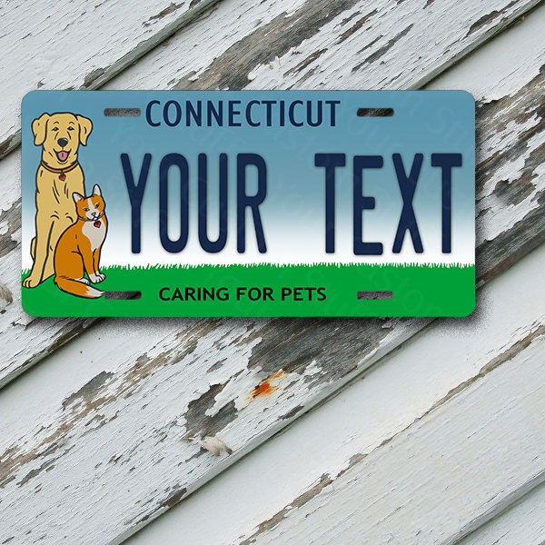 "License Plate Connecticut Wave 2 Protect Your 14ers Customizable 6"" x 12""  Aluminum Vanity License Plate"