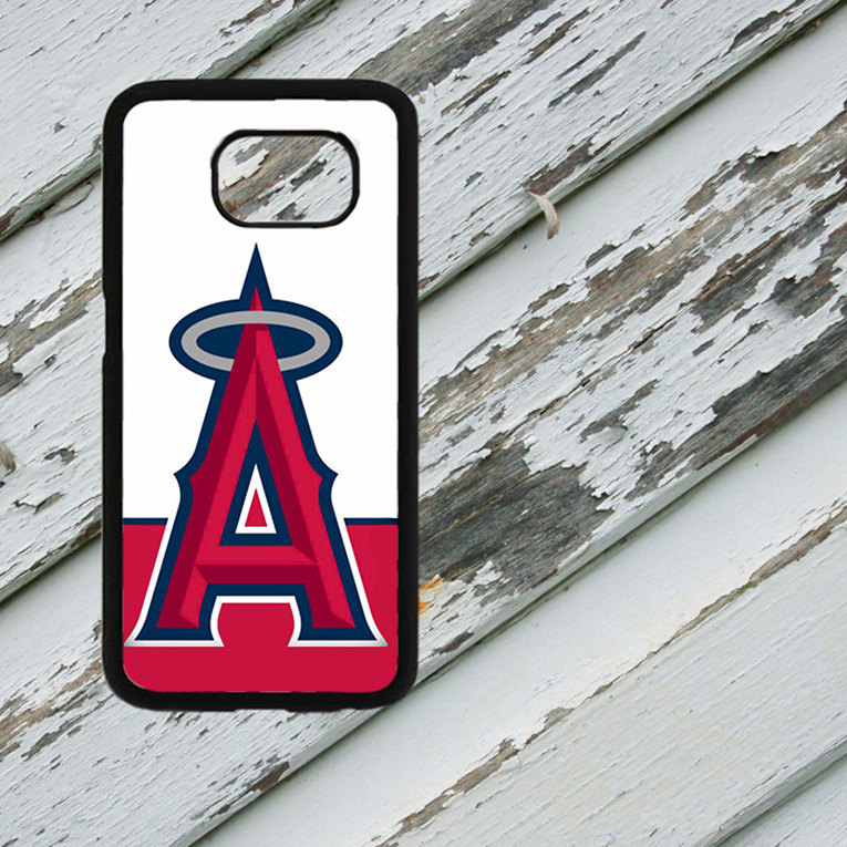 Anaheim Angels Design on Samsung Galaxy S6/S7 Black Rubber Silicone Case