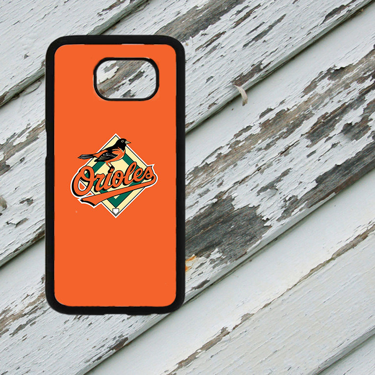 Baltimore Orioles Inspired Design on Samsung Galaxy S6/S7 Black Rubber Silicone Case