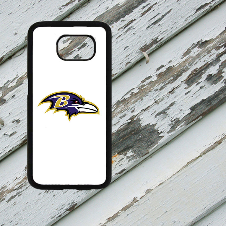 Baltimore Ravens Inspired Design on Samsung Galaxy S6/S7 Black Rubber Silicone Case