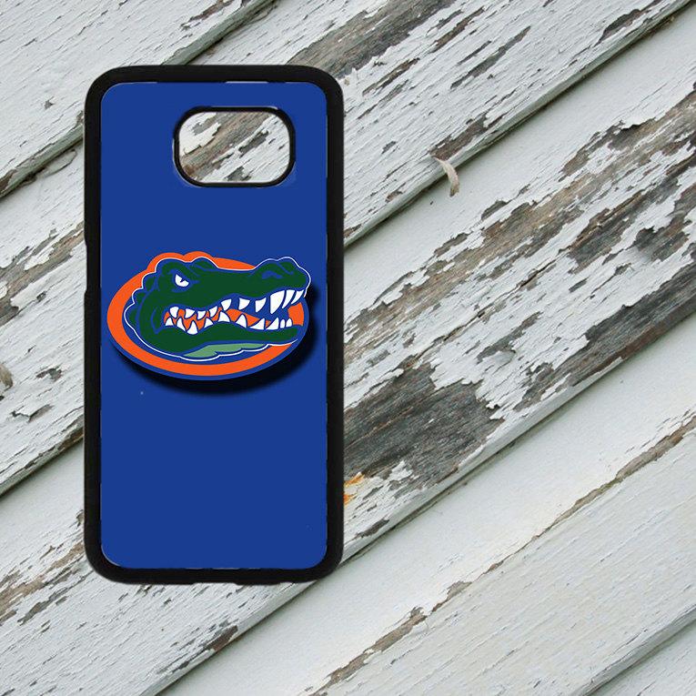 Florida Gators Blue Background on Samsung Galaxy S6/S7 Black Rubber Silicone Case